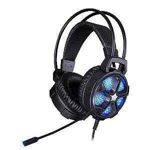Headset Gamer HP H400 Conexão P2 e Usb 50mm 7JH34AA Preto - HP