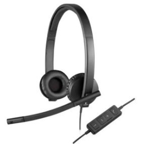 Headset H570e Usb Stéreo 981-000574 Preto - Logitech