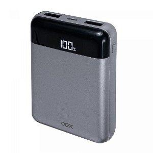 Carregador Portátil Oex Power Bank Lush Mini 10000mah PB305 Chumbo -  Oex