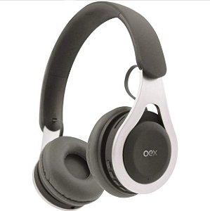 Headset Oex Drop Bluetooth HS306 Cinza - Oex