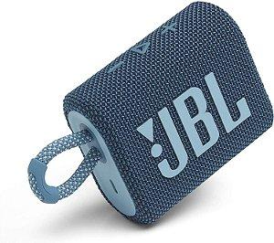 Caixa de Som GO3 Bluetooth 4,2W à Prova D'água Bateria 5 horas de Duração Azul - JBL