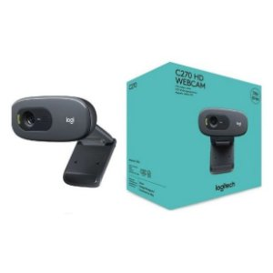Webcam HD Logitech C270 com Microfone Embutido e 3 MP para Chamadas e Gravações em Vídeo Widescreen - Logitech