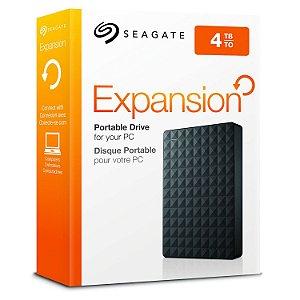 HD Externo Portátil 4TB Seagate Expansion USB 3.0 - Seagate