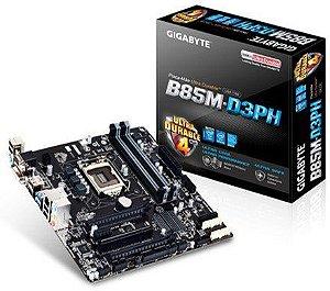 Placa-Mãe Gigabyte Intel LGA 1150 mATX  Ddr3 HDMI 4K  GA-B85M-D3PH - Gigabyte
