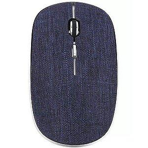 Mouse Oex Twill Sem Fio Bluetooth Em Tecido MS600 Azul - Oex