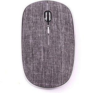 Mouse Oex Twill Sem Fio Bluetooth Em Tecido MS600 Cinza - Oex