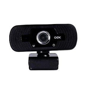 Webcam Oex Full HD 1080p 30Fps Usb W100 Preto - Oex