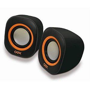Caixa de Som Speaker Acústico Round SK100 8w Preto e Laranja - Oex