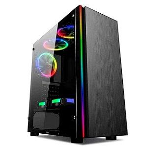 Gabinete Gamer Titan V2 Mid Tower Rgb 1 Fan Fita Led Frontal - Liketec