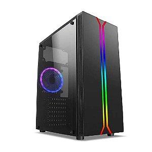 Gabinete Gamer Rainbow Mid Tower Rgb Lateral Vidro - Liketec