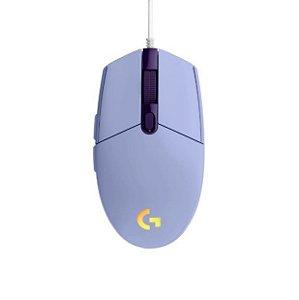 Mouse Gamer Logitech G203 Rgb Lightsync 8000Dpi 910-005852 Lilás - Logitech