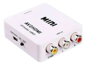 Conversor Adaptador Video Composto 3 Rca Av Para Hdmi - Power Tech