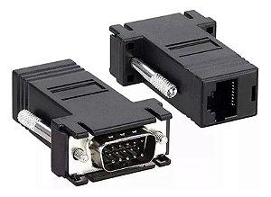 Adaptador Extensor Conversor Vga Macho Rj45 Cabo De Rede - Power Tech