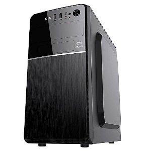 Gabinete Micro ATX Usb Com Fonte 200W Sem Cabo MT-24V2BK Preto - C3Plus