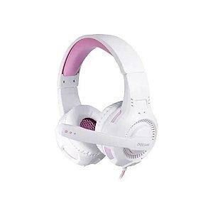 Headset Gamer Oex Gorky Pc Ps Xbox One Hs413 Branco E Rosa - Oex