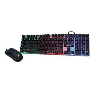 Kit Gamer Oex Combo Horus 2 em 1 Teclado Led Abnt2 e Mouse Led TM305 - Oex