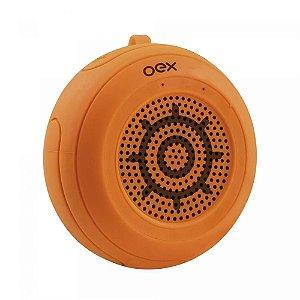 Caixa De Som Oex Bluetooth a Prova D'agua 10w Micro Sd SK414 Laranja - Oex