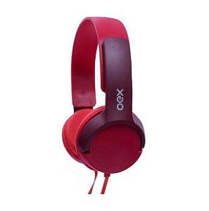 Headphone Infantil Oex Kids Teen Com Microfone HP303 Vermelho - Oex