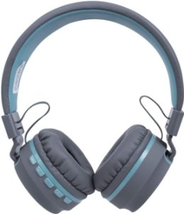 Headset Oex Bluetooth Candy HS310 Cinza Com Azul Claro - Oex