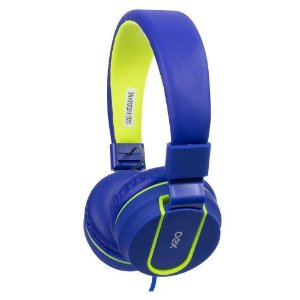 Headset Oex Fluor Com Microfone Dobrável Teen HS107 Azul e Verde - Oex