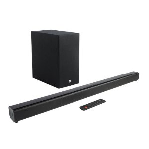 Soundbar JBL Cinema SB160 Bluetooth e Subwoofer Sem Fio JBLSB160BLKBR Preto - JBL