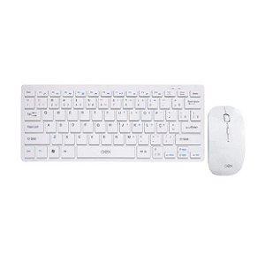 Kit Combo Teclado e Mouse Sem Fio Ultra Slim TM405 Branco - Oex