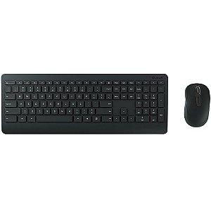 Kit Teclado e Mouse Sem Fio Multimídia Desktop 900 PT300005 Preto - Microsoft