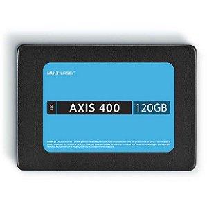 Ssd Multilaser 2.5Pol 120Gb Axis 400 Gravação 400 Mb/S SS101 - Multilaser