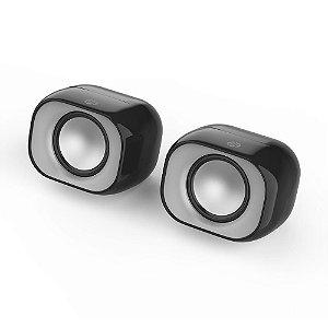Caixa de Som Speaker de 6W Usb Para Alimentação De Energia DHS-2111 Preto -  HP