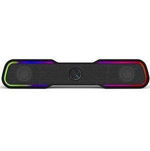 Caixa de Som Speaker 6W Led Rgb DHE-6002 Preto - HP