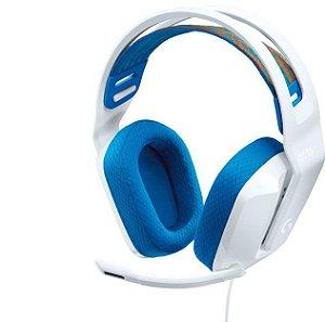 Headset Gamer G335 40mm 981-001017 Branco - Logitech