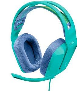 Headset Gamer G335 40mm 981-001023 Verde - Logitech