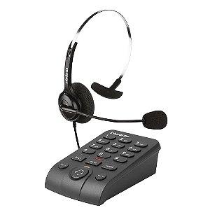Telefone Headset Ajustável Atendimento Automático RJ9 HSB 40 - Intelbras