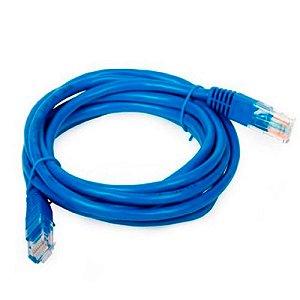 Cabo de Rede UTP RJ45 Cat 5e 10 metros PC-ETHU100BL Azul - Plus Cable