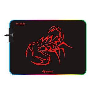 Mousepad Gamer Marvo Scorpion Rgb Control 300x230x3mm MG08 - Marvo