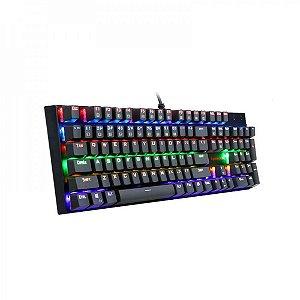 Teclado Gamer Mecânico Rudra Keyboard Switch Outemu Blue K565R Preto - Redragon