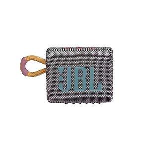 Caixa de Som Portátil Bluetooth JBL GO3 IPX7 Autonomia de 5 Horas Cinza - JBL