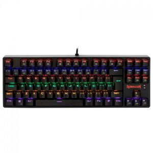 Teclado Gamer Mecânico Redragon Daksa Rainbow Switch Blue K576R-1 Preto - Redragon