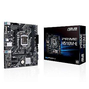 Placa Mãe Asus Prime H510M-E Intel Lga 1200 microATX Ddr4 90MB17E0-C1BAY0 - Asus