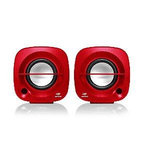 Caixa de Som Speaker 2.0 SP-303RD Vermelho - C3Tech