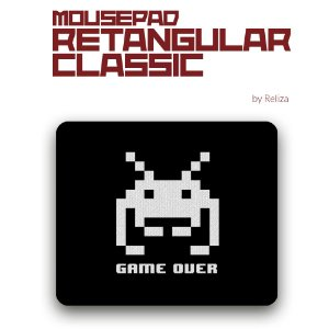 Mousepad Retangular Classic  Game Over - Reliza