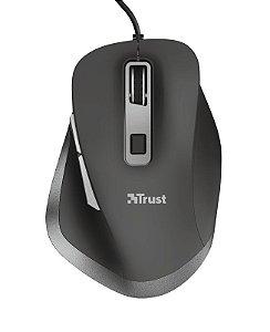 Mouse Óptico Fyda Trust Comfort 5000Dpi Ergonômico Usb 23808 - Trust