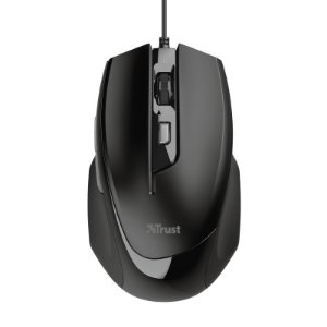 Mouse Óptico Voca Comfort 2400Dpi Usb 5 botões Black Piano - 23650 - Trust