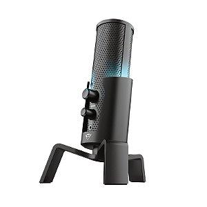 Microfone Streamer Trust GXT 258 Fyru 4 Modelos de Gravação Iluminação Led Usb - T23465 - Trust