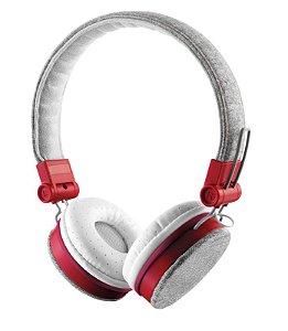 Headphone Fyber Dobrável com Microfone Embutido Cinza e Vermelho 20073 - Trust