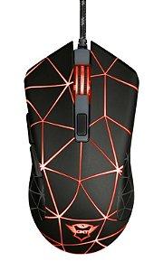 Mouse Gamer Locx 4000Dpi 6 botões Formato Ambidestro Led GXT 133 - 22988 - Trust