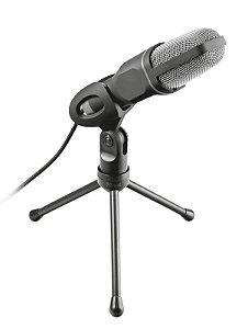 Microfone Voxa USB de alto desempenho estilo estúdio com tripé - PC e Laptop - 22810 - Trust