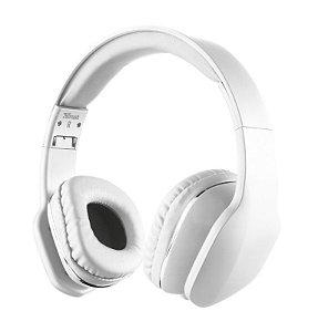 Headphone com Microfone Mobi Trust Compatível com iOS Android Branco - 20113 - Trust