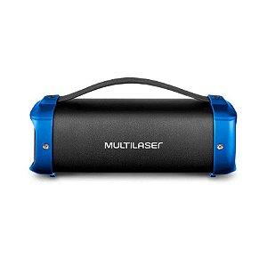 Caixa de Som Portátil Bazooka 70w SP351 Preta com Azul - Multilaser