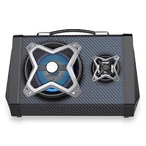 Caixa De Som Portátil Multilaser 120w Usb SD FM Sound System Bluetooth Microfone SP314 - Multilaser
